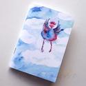 Felhőtündér füzet, Naptár, képeslap, album, Jegyzetfüzet, napló, Festett tárgyak, A füzet borítója egy festményem másolata. Az eredeti akvarellfestmény saját szellemi termékem. Egy ..., Meska