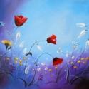 Virágok - festmény, Képzőművészet , Festmény, Akril, Festészet, 30 x 40 cm-es akril festmény kasírozott vásznon.  Keret nélküli.  Művészakrillal festve, szignózva ..., Meska