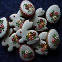 Locsolkodóknak, Dekoráció, Ünnepi dekoráció, Húsvéti apróságok, Mézeskalácssütés, 10 darabos, virágmintás, (kb. 4-5 cm-esek) húsvéti díszek. Kívánság szerint a csomag összetétele vá..., Meska