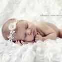 Csipke, virágos fejpánt, Ruha, divat, cipő, Baba-mama-gyerek, Hajbavaló, Hajpánt, Varrás, Megkötős fejpánt baba vagy kislány fotózásához vagy alkalmi viseletre fehér színben. Nem mosható.  ..., Meska