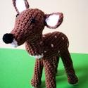 Bambi a horgolt őzike, Baba-mama-gyerek, Játék, Plüssállat, rongyjáték, Játékfigura, Horgolás, Bambi egy horgolt őzike,aki nagyon kedves, szelíd és mosolygós:)Olyan családot szeretne magának,aho..., Meska