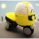 """Horgolt autó  """"Tuk-Tuk"""", Baba-mama-gyerek, Játék, Játékfigura, Plüssállat, rongyjáték, Horgolás, Kedves kis Tuk-Tuk készült:) minden kisgyermek nagy örömére!  Ha Te is szeretnél szívesen elkészíte..., Meska"""