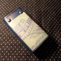 Budás kulcstartó, Mindenmás, Férfiaknak, Kulcstartó, Bőrművesség, Kék marhabőr alapon középkori rézkarc- mintával díszített, 6- os karabínerrel ellátott kulcstartó s..., Meska
