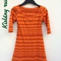 Ruha kislánynak narancssárga, Baba-mama-gyerek, Ruha, divat, cipő, Gyerekruha, Kisgyerek (1-4 év), Vannak kislányok, akik mindig ruhát kérnek a reggeli öltözködésnél. Ez is egy lehetőség: gyorsan fel..., Meska