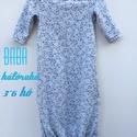 Baba hálóruha szürkén kék virágos, Baba-mama-gyerek, Ruha, divat, cipő, Gyerekruha, Baba (0-1év), Álomruha Azaz a legkisebbek pizsamája.   A csecsemő éjszakai kényelme és a mama életének megkönnyíté..., Meska