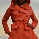 Női esőkabát, Ruha, divat, cipő, Női ruha, Kabát, Varrás, Női vízlepergetős ballon fazonú kabát,városi bringázáshoz.A háta kinyílik tekerés közben és a kapuc..., Meska