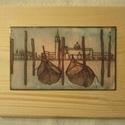 Velence I. 8 x 13 cm tűzzománc, Képzőművészet, Festmény, Festmény vegyes technika, Tűzzománc, Tűzzománc kép vörösréz lemezen. A tűzzománc mérete; 8 cm x 13 cm. Postázás az aktuális postai díjsz..., Meska