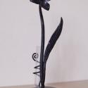 kovácsoltvas váza, Dekoráció, Otthon, lakberendezés, Dísz, Kaspó, virágtartó, váza, korsó, cserép, Kovácsoltvas, Sk. kovácsolt motívumokból álló dísztárgy., Meska