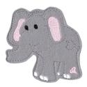 Elefánt mágneses játék, Baba-mama-gyerek, Játék, Mindenmás, Mindenmás, Varrás, Állatfiguráink egyik darabja ez a szürke filcre hímzett elefánt, melyet rugalmas mágnesre varrtunk ..., Meska