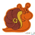 Csiga mágneses játék, Baba-mama-gyerek, Játék, Mindenmás, Mindenmás, Varrás, Állat kollekciónk egyik darabja ez a narancssárga filcre hímzett CSIGA, melyet rugalmas mágnesre va..., Meska