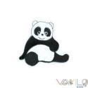 Panda mágneses játék, Baba-mama-gyerek, Játék, Mindenmás, Dekoráció, Mindenmás, Varrás, Állat kollekciónk egyik darabja ez fehér filcre hímzett PANDA, melyet rugalmas mágnesre varrtunk rá..., Meska