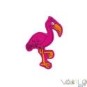 Flamingó mágneses játék, Baba-mama-gyerek, Játék, Dekoráció, Játékfigura, Mindenmás, Varrás, Állatfiguráink egyik darabja ez a rózsaszín filcre hímzett FLAMINGÓ, melyet rugalmas mágnesre varrt..., Meska