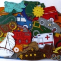 Járművek kollekció - 30 darab mágneses játék, Baba-mama-gyerek, Dekoráció, Játék, Otthon, lakberendezés, Hímzés, Mindenmás, Kollekciónk egyik csomagja a JÁRMŰVEK melyben az alábbi mágneses játékok találhatóak meg :  ( autó,..., Meska