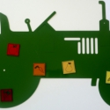 Traktor alakú fémtábla, Játék, Otthon, lakberendezés, Mindenmás, Falikép, Mindenmás, Különböző figurákat vágunk ki fémből, mely nagyszerű üzenőtáblaként funkcionálhat. Fel lehet rá ten..., Meska
