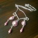 Hölgyek álma kollekció - nyakék, Nikkelmentes ezüstözött drótot hajlítottam é...