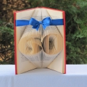 Könyvszobrászat  számok 60 masnival Rendelésre!, Otthon, lakberendezés, Dekoráció, Dísz, Papírművészet, Újrahasznosított alapanyagból készült termékek, Közeledik egy Születésnap, Házassági évforduló és valami egyedit, különlegeset szeretnél?  Akkor it..., Meska