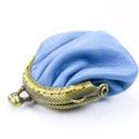 Türkízkék mini bugyor, Mindenmás, Kulcstartó, Bőrművesség, Mütymürütty, kedves bugyrosított mini pénztárca. Kézzelvarrott, hihetetlenül puha türkíz kék bugyor..., Meska