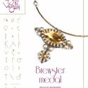 Brewster medál... minta egyéni felhasználásra, Ékszer, óra, Mindenmás, Karkötő, Csináld magad leírások, Gyöngyfűzés, Brewster medál  A minta tartalmaz: Részletes lépésről-lépésre képeket és ugyancsak részletes szöveg..., Meska
