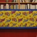 Falvédő, Baba-mama-gyerek, Gyerekszoba, Falvédő, takaró, Varrás, Méret:200x70 cm Motormintás vászonból, vatelin béléssel készült falvédő.A postaköltség utánvétes cs..., Meska