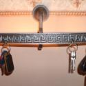 Fali mécses illetve gyertyatartó (kulcstartó), Dekoráció, Otthon, lakberendezés, Ünnepi dekoráció, Gyertya, mécses, gyertyatartó, Fémmegmunkálás, Kovácsoltvas, Fali gyertya,illetve mécses tartó.Jól mutat a falon díszként de éjszakai hangulat világításra is al..., Meska