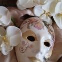 Velencei álarc/maszk, Dekoráció, Dísz, Decoupage, szalvétatechnika, Kerámia, Kerámiaporból készült velencei álarc.A maszk alapját,teljesen én készítem kerámiaporból,szilikon for..., Meska