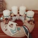 Kötött adventi koszorú, Dekoráció, Karácsonyi, adventi apróságok, Karácsonyi dekoráció, Mindenmás, Kötött adventi koszorú Régóta magam csinálom a család adventi koszorúját,minden évben valami újdons..., Meska