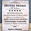 """""""Hotel Mama ..."""" idézetes  falikép, táblakép, Dekoráció, Otthon, lakberendezés, Falikép, Kép, Festészet, Famegmunkálás, Akrilfestékkel  és transzfertechnikával  készült saját  szerkesztésű  falikép. A képet, szöveget ké..., Meska"""