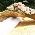 Rózsafa, Dekoráció, Otthon, lakberendezés, Dísz, Kerámia, Virágkötés, Egy kedves ismerőstől kaptam egy nagyon szép üreges faágat.:) Letisztítottam,vízbázisú lakkal lakko..., Meska