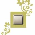 Virágos kapcsoló dísz, Otthon, lakberendezés, Falmatrica, Fotó, grafika, rajz, illusztráció, Villanykapcsoló vagy a konnektor dekorálására.  Méret: 22*28  Falmatrica színek: világos sárga, sár..., Meska