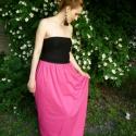 Rose  - maxi szoknya, Ruha, divat, cipő, Női ruha, Szoknya, Varrás, A nyár slágerszínével készült maxi szoknya, nemcsak tizenéveseknek. Leheletvékony pink pamutanyagbó..., Meska
