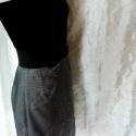 Ezüst varázs - szoknya, Ruha, divat, cipő, Női ruha, Szoknya, Varrás, Ezüst gyűrt-selyemből készült ez az alj, elegáns alkalmakra. Az egyenes vonalú szoknyát a különlege..., Meska