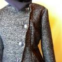 AKCIO Gyapjú fantázia - női kabát, Ruha, divat, cipő, Női ruha, Kabát, Varrás, Készülni kell a hidegebb napokra.Akik ekkor is szeretnének egyediek, és elegánsak lenni, azoknak ajá..., Meska