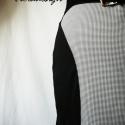 Chanel szoknya, Ruha, divat, cipő, Női ruha, Szoknya, Varrás, Klasszikus kedvenc a tyúklábmintás szövet anyag. Ezt most fekete pamut anyaggal kombináltam, így sz..., Meska