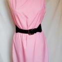 Rózsakvarc női ruha, Ruha, divat, cipő, Női ruha, Ruha, Varrás, Elegáns, és időtálló ruha rózsaszín puplin anyagból. Kortalan darab minden ünnepi alkalomra, de egy..., Meska
