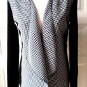 Madam Noiret - női kabát, Ruha, divat, cipő, Női ruha, Kabát, Kosztüm, Varrás, Kellemes, klasszikus mintázatú kabátka gyapjúszövet - kötött anyag mixeléssel. A tyúkláb mintát ezú..., Meska
