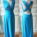 Nagy kékség - női egész ruha, Ruha, divat, cipő, Női ruha, Estélyi ruha, Ruha, Varrás, Csodás dzsörzé anyagból készült alkalmi ruha. Esküvőre,partikra,alkalmakra.  Méretek megadása után ..., Meska