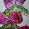Orchidea parduc virág festmény, Otthon, lakberendezés, Képzőművészet , Esküvő, Nászajándék, , Meska