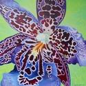 Orchidea leopard virág festmény, Otthon, lakberendezés, Képzőművészet , Esküvő, Nászajándék, , Meska