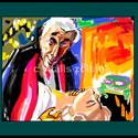 """"""" DRAKULA """", Képzőművészet, Festmény, Festmény vegyes technika, Festészet, Számítógépen festett,fa keretezett,üvegezett, festményem fotópapírra nyomtatva. A kép sorszámozott,..., Meska"""