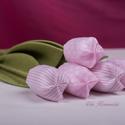 Textil tulipán (rózsaszín), Dekoráció, Dísz, Varrás, Pamutvászonból készült, különlegesen tartós, öntözést nem igénylő díszvirág. :-) Mérete: fej 6 cm, ..., Meska