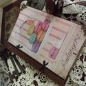 Új félbőr kötésű nosztalgia füzetek , Képeslap, album, füzet, Konyhafelszerelés, Jegyzetfüzet, napló, naptár, Decoupage, szalvétatechnika, Rendelésre készítek receptes könyvet A5- ös méretben szép rusztikus papírlapokkal,egyedileg köttete..., Meska