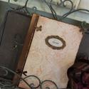 Vintage napló , Naptár, képeslap, album, Konyhafelszerelés, Jegyzetfüzet, napló, Decoupage, szalvétatechnika, Rendelésre készítek könyvet A5- ös méretben 70 lappal ,szép rusztikus papírlapokkal,egyedileg kötte..., Meska