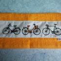 Biciklis törölközö, Férfiaknak, Legénylakás, Bringás kiegészítők, Varrás, 40x60 cm-es jó minőségi frottír törölköző és bicikli mintás pamutvászon társításából jött létre. Ga..., Meska