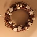 Karácsonyi ajtódísz ezüst és fehér , Dekoráció, Ünnepi dekoráció, Karácsonyi, adventi apróságok, Karácsonyi dekoráció, , Meska