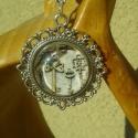 """""""Ezüst kulcsocskák"""" - Kör alakú lencsével díszített szett, Ékszer, óra, Ékszerszett, Ékszerkészítés, Különböző méretű és mintájú kulcsokat ábrázoló, 18mm nagyságú, kerek üveglencséket foglaltam ezüst ..., Meska"""