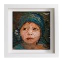 'Adél' - Kézzel szövött portré, 30x30cm, Dekoráció, Otthon, lakberendezés, Képzőművészet , Falikép, , Meska