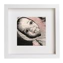 'Zuzu'- Kézzel szövött portré, falikárpit. 20x20cm, Dekoráció, Képzőművészet , Otthon, lakberendezés, Falikép, , Meska