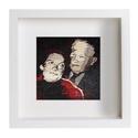 'Nagyszülők' - Kézzel szövött portré, falikárpit. 20x20cm, Dekoráció, Otthon, lakberendezés, Képzőművészet , Falikép, , Meska