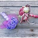AKCIÓ!! Kék vintage csokor , Esküvő, Esküvői csokor, Virágkötés, Kék selyem anyag felhasználásával készült vintage tartós csokor. A csokor élethű, normál méretű.   , Meska
