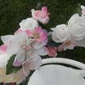 Virágos extra fejpánt , Esküvő, Ruha, divat, cipő, Hajbavaló, Hajpánt, Virágkötés, Különleges virágos fejpánt, rengeteg,élethű virággal. Felnőtt méret. Igazítható., Meska